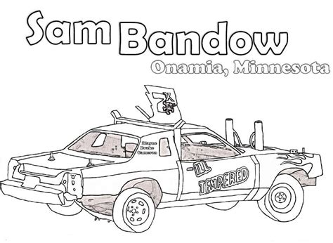 derby car coloring page crashed derby car clipart clipart kid coloring pages