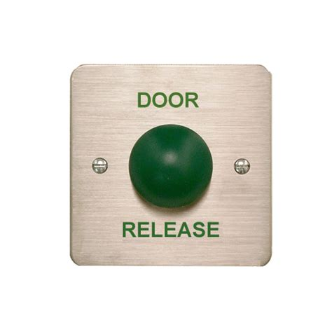 push button release exit button green dome door release