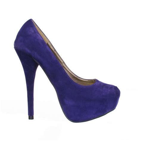 new womens purple platform heels court shoes size 3 8 ebay