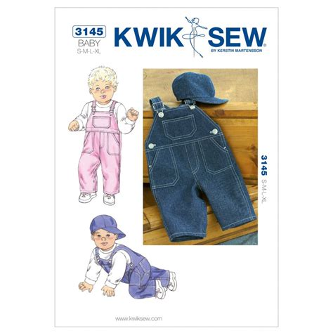 products archive make sewing patterns kwik sew baby sewing pattern 3145 dungarees hats