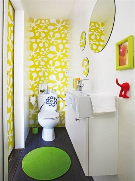 wallpaper for kids bathroom salle de bain color 233 e 55 meubles carrelage et peinture