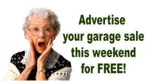 post your free garage sale ads for this week here