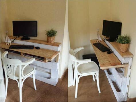 bureau en palette de bois bureau en bois 34 id 233 es diy tr 232 s cool en palette europe