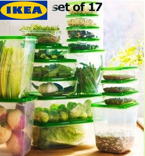 Ikea Pruta 17 ikea pruta set 17 pcs high quality plastic transparent
