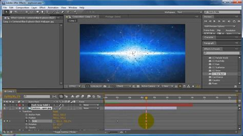 tutorial after effect bomb adobe after effects cs5 tutorial how to make a simple