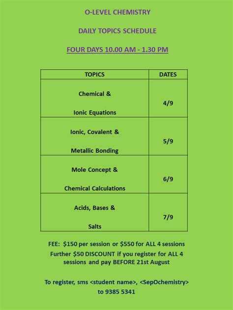 Topical Maths Normal Technical Sec 4 o level physics chemistry september holidays
