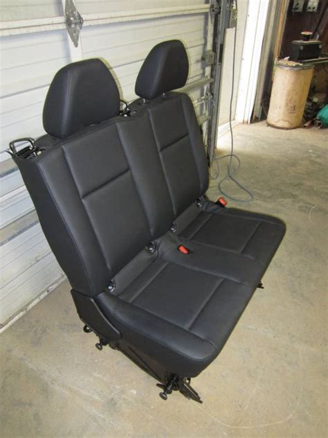 van bench seats 2016 mercedes benz metris van black leather 2nd row bench