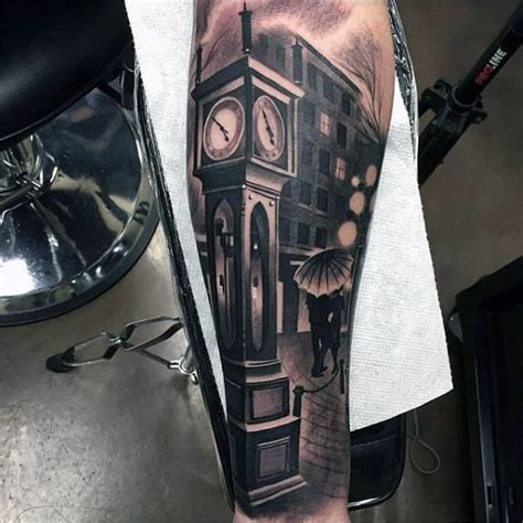 clock tower tattoo 100 inner arm tattoos for masculine design ideas