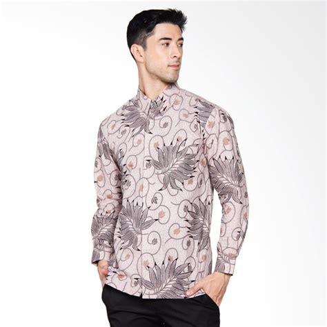 Premium Baju Batik Pria Slim Fit Modern Dan Kemeja Slimfit Mewah Luig 1 jual adiwangsa batik modern slim fit kemeja pria abu
