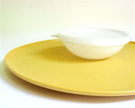 Tupperware Snack It Gold vintage 1970 s tupperware set in harvest gold chip dip tray sugar butter