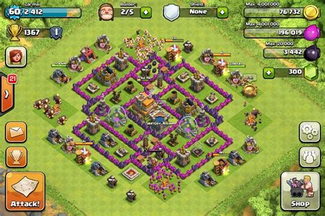 best clash of clans defence 7 hd image town hall 7 defense layout www pixshark com images