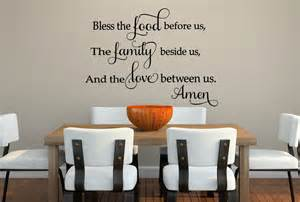 bless the food wall decal for the kitchen wall decals the kitchen is the heart of the home wall sticker wa272x
