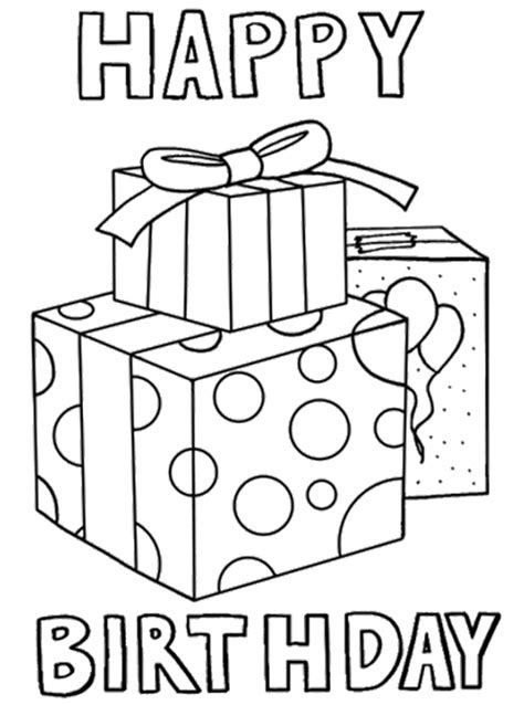 gift birthday cards coloring page places to visit