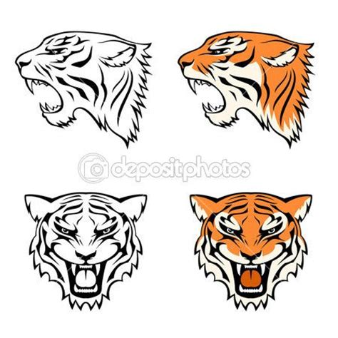 tattoo simple tiger 20 best tiger mascot drawing inspiration images on