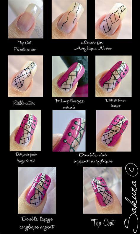 nail art corset tutorial fashion forever tutorial unhas de espartilho