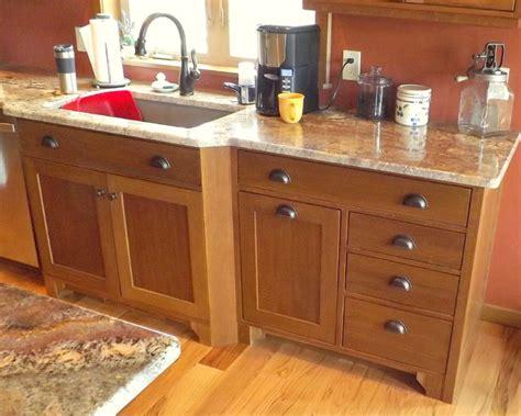 craftsman quartersawn oak cabinetry craftsman kitchen