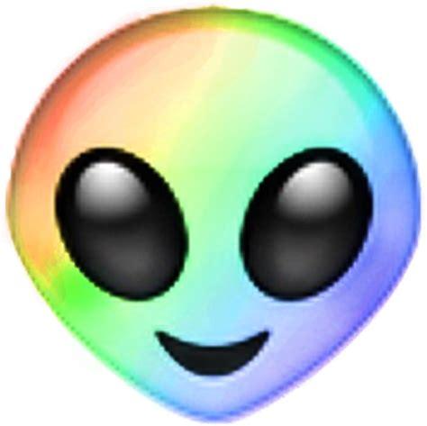 emoji alien quot rainbow alien emoji quot stickers by ladyboner69 redbubble