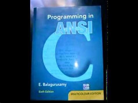 download free programming in ansi c by balaguruswamy programming in ansi c by e balaguruswamy 5th edition pdf