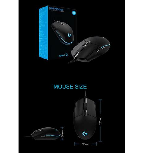 Mouse Gaming Logitech G102 Prodigy Bp logitech g102 prodigy gaming mouse free shipping south