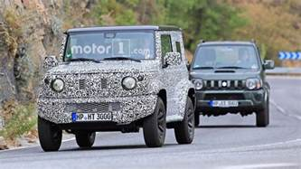Suzuki Jimny News Next Suzuki Jimny Spied Testing With Current Model