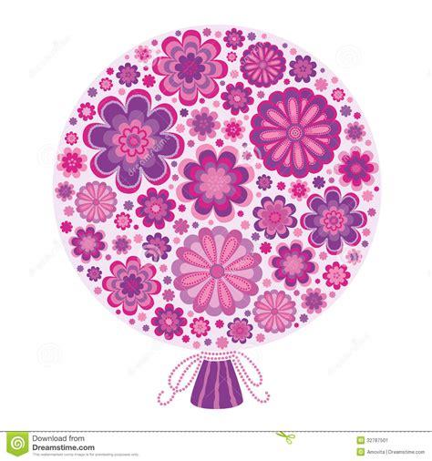 immagini fiori stilizzati mazzo di fiori lilla stilizzati immagine stock immagine