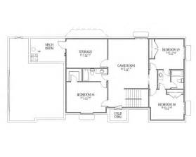 story house floor plans with basement and story house