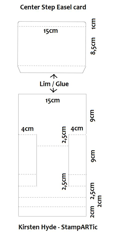 center step card template startic how to create a center step easel card