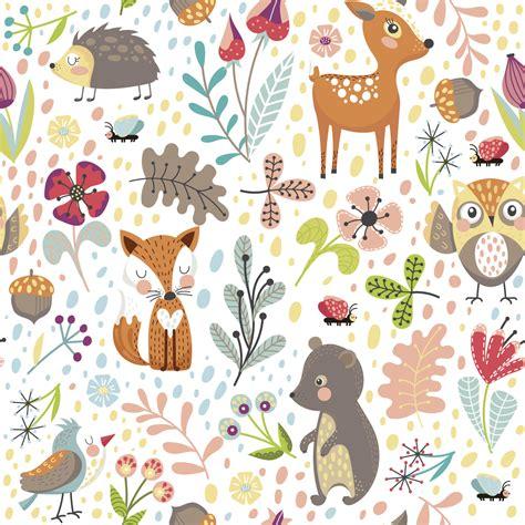 Stickers Tapisserie by Sticker Tapisserie Chambre Enfant Les Animaux Des Bois