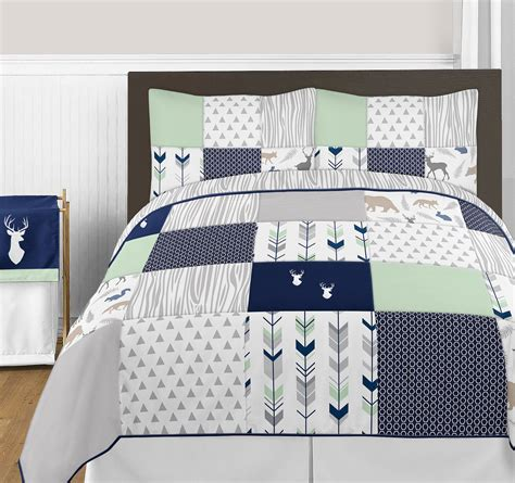 arrow bedding luxury white arrow grey deer full queen quilt comforter