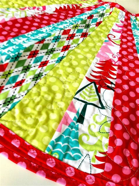 colorful christmas tree skirt fun pink lime green aqua