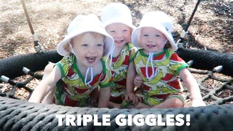 triplet swing adorable laughing triplets on a swing youtube