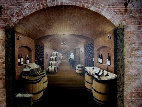 trompe l oeil wine cellar the mural works