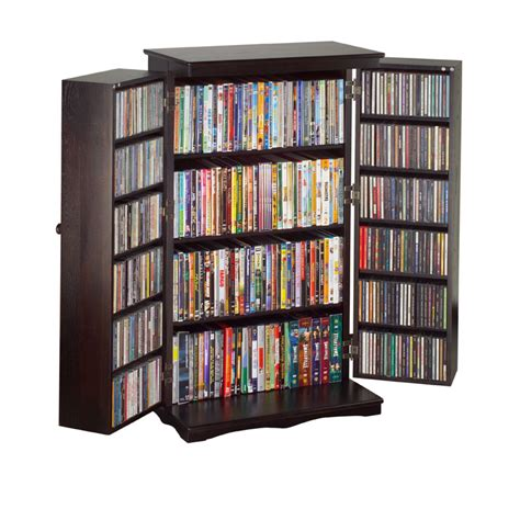 Mission Style Cd Cabinet by Leslie Dame Mission Style Multimedia Cabinet Espresso Cd 612es