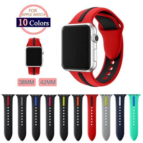Big Sale Apple Sport Band 38mm 42 Mm 42mm 38mm silicone sport band with connector adapter for apple band 42mm 38mm for