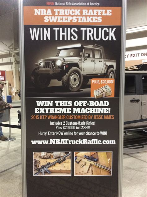 Win A Truck Sweepstakes 2016 - great american outdoor show nra truck raffle sweepstakes soldier systems daily