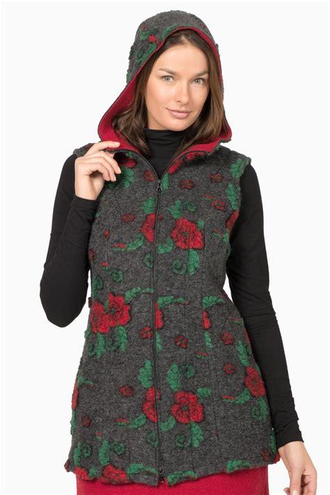 giacca a fiori giacca donna smanicata a fiori con cappuccio vesty