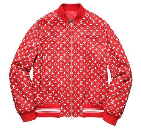 Supreme Jacket louis vuitton supreme x leather bomber varsity jacket