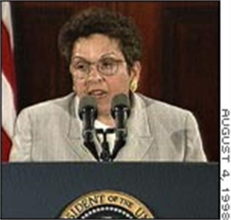 Clinton Cabinet Member Donna by Clinton Apologizes To Cabinet September 11 1998
