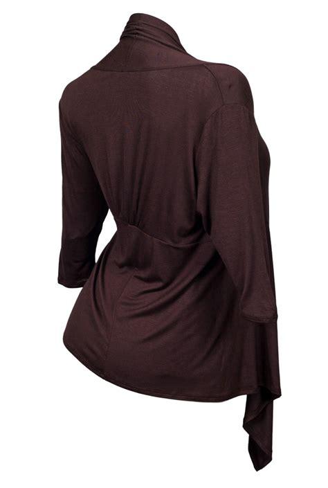 brown drape cardigan plus size longline drape front cardigan brown evogues