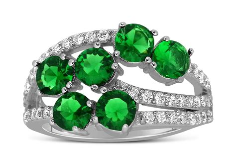 unique 2 carat green emerald and ring for
