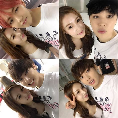 bts v siblings fotos 08 05 16 bts com a amiga da irm 227 do j hope lee