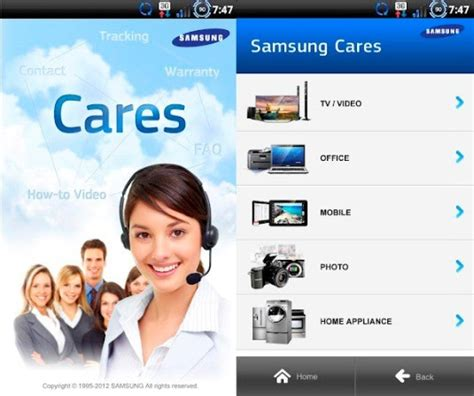 samsung launches customer service app on android as proof that it cares - Android Customer Service
