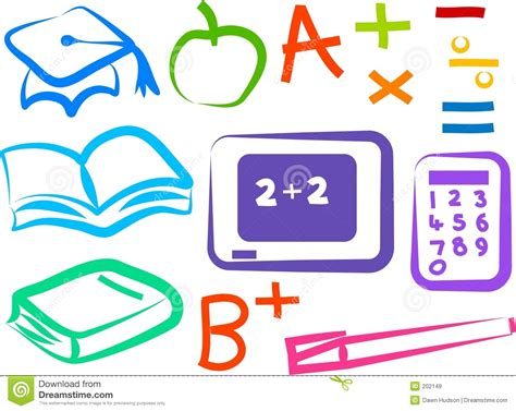 imagenes educativas 4 años iconos educativos ilustraci 243 n del vector imagen de