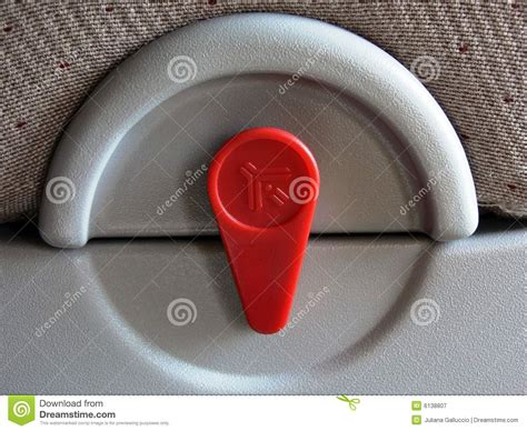 airplane seat lock airplane seat tray latch royalty free stock photography