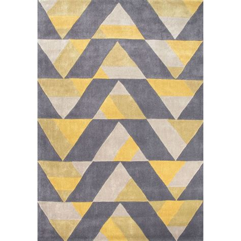 Grey Geometric Rug Uk by Tufted Geometric Pattern Gold Grey Polyester Area