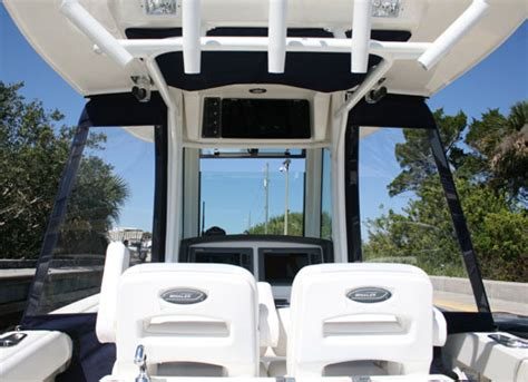 t top curtains boston whaler 174 280 outrage wing curtains hard top only