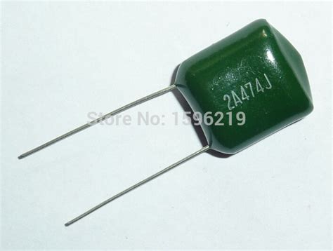 50pcs mylar capacitor 100v 2a474j 0 47uf 470nf 2a474 5 polyester capacitor in