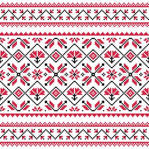 ukraine pattern vector ukrainian slavic folk knitted red emboidery print by