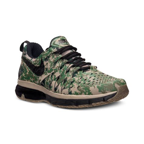 mens camo sneakers nike s fingertrap air max sneakers from