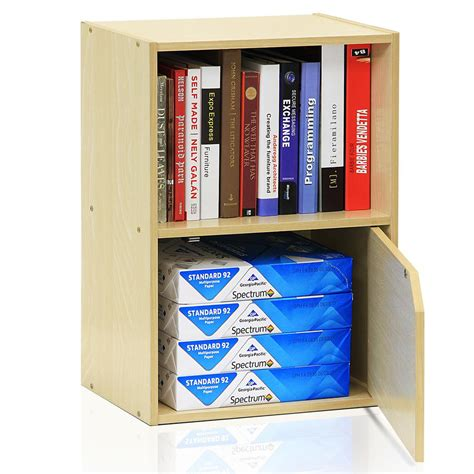 2 shelf bookcase with doors furinno pasir steam 2 shelf bookcase with 1 door 11204sbe the home depot